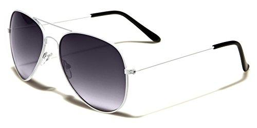 Mirozi Unisex Classic White Frame/Grey Lens Aviator 51MM - Ray Bands Aviators