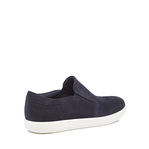 ECCO Womens Suede Navy Slip On 1' Trainers 'Soft zPzvRr