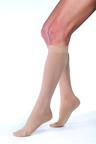 (Jobst Relief Knee High Moderate Compression 15-20, Beige, M)