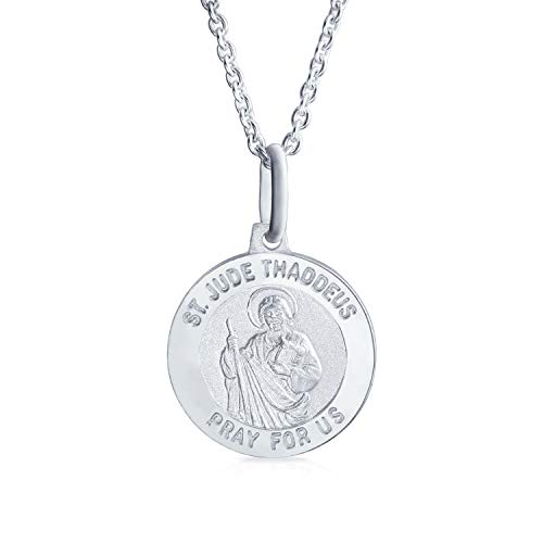 Guardian Angel Saint Michael Parton of Military Police Security Worker Medal Medallion Sterling Silver Pendant Necklace