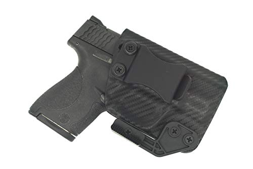 Sunsmith Holster AIWB Series - Compatible with Smith & Wesson M&P Shield Kydex Appendix Carry Inside Waistband Concealed Carry Holster Made in USA (Carbon Fiber - Right Hand)