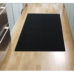 Shag Mat Mat: 3' x 5', Stripe/Color: Solid Black