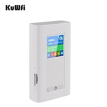 KuWFi 5200mAH Banco De Energía Portátil 3G 4G Ranurador ...