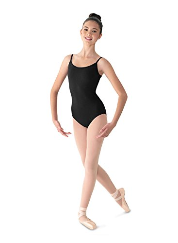 - Mirella Women's Classic Camisole Dance Leotard with Scoop Front & V-Back,Black,Small