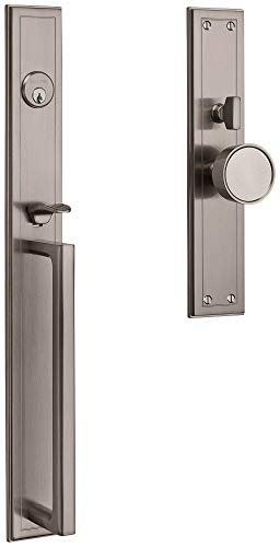 Baldwin 6946150ENTR Hollywood Hills Full Plate Single Cylinder Keyed Entry Mortise Handleset Trim