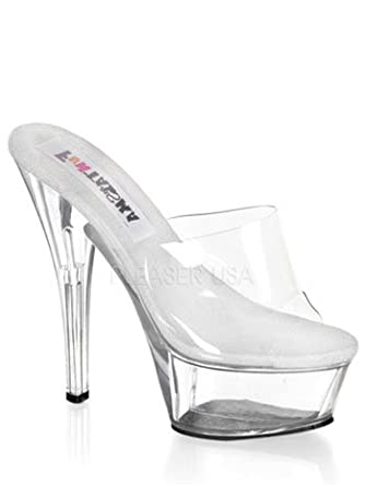 44cceccc41ace Amazon.com: High Heel Clear Platform Princess Costume Sandal - 13 ...