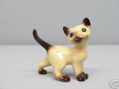 Hagen Renaker Pottery Grey Walking Cat