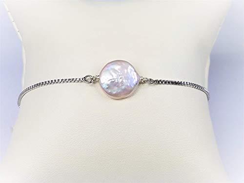 Coin Pearl Adjustable Chain Bracelet (Bracelet Coin Pearl Freshwater)