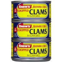 Snow's Chopped Clams in Clam Juice, 6.5 oz, 3 pk