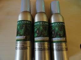 Lot of 3 Yankee Candle Balsam & Cedar Odor Eliminating Room Spray 1.5 Oz Each (Scented)