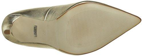 Leather Mercure Zapatos 15p53 Dorado para Tacón London Buffalo GOLD de 24 5 Mujer wBqSccgyI