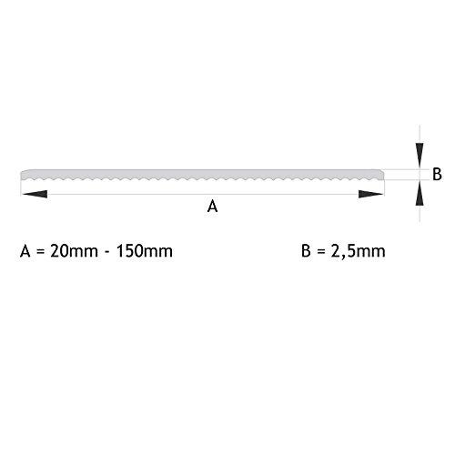 Flachleiste Abdeckleiste Fensterleiste 50mm breit 3m lang Kunststoff Flachprofil