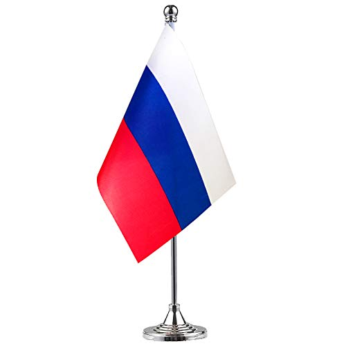 Russian Table Decorations (GentleGirl Russia Flag Russian Flag Table Flag,Desk Flag,Office Flag,International World Country Flags Banners,Festival Events Celebration,Office Decoration,Desk,Home)