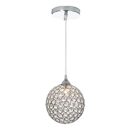 - Wtape 1-Light Crystal Circle Pendant Light,Decorative Pendant Lighting with 55'' Adjustable Cord for Kitchen Island, Dining Room, Bedroom, Living Room,Hotels and Shop