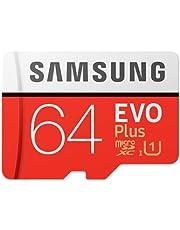 Samsung MB-MC64HA/APC EVO Plus MicroSDXC Memory Card, 64GB