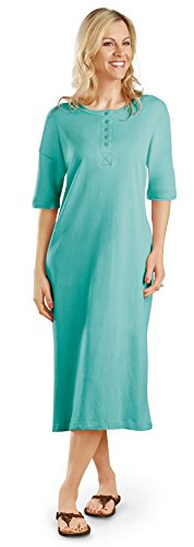 Womens Henley Nightshirt Machine Washable