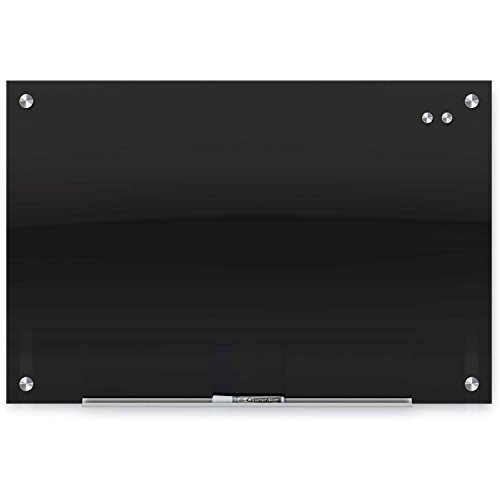 Price comparison product image Quartet Infinity Glass Magnetic Marker Board,  Black,  36 x 24 - Lot of 2