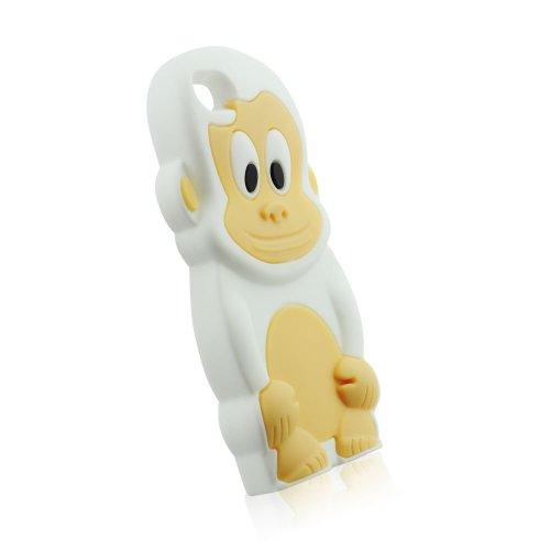 3D Affe Gummihülle für iPhone 5C, 5 C Weiss, Weiß, Gummi, Hülle, Silikonhülle, Gel, Schale, Handyschale, Handyhülle, Schutz, Schutzhülle