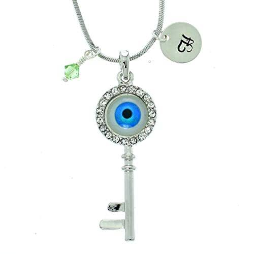 Sparkling Crystal Block Ring Chandelier: Amazon.com: Key Blue Eye Personalized Protective Pendant