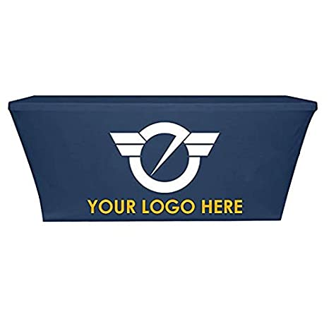 225 & Custom Printed Table Cover Trade Show Tablecover Stretch Spandex Full Color Stretch Fitted Table Cover (6\u0027)