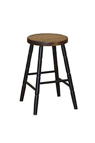 Remarkable Lancasters Best Amish Hand Made 24 Inch Wooden Bar Stool Round Legs Black Lamtechconsult Wood Chair Design Ideas Lamtechconsultcom