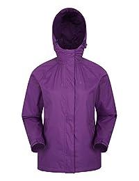 Mountain Warehouse Torrent Womens Jacket -Lightweight Ladies Raincoat Purple 18
