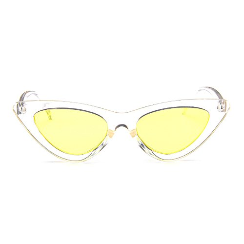 Sunglasses for Plastic Women Clout Retro Vintage Narrow Frame Cat Goggles Eye xqw7np1an