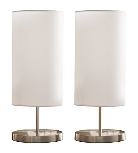 kings-brand-brushed-nickel-white-fabric-shade-table-lamps-set-of-2