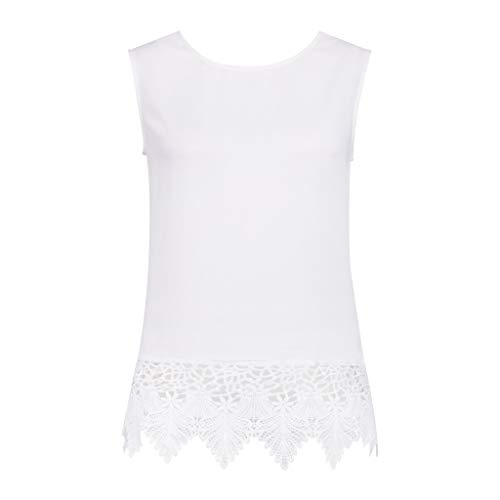 - MOGOV Women Sexy Sleeveless Lace Patchwork Backless Bow Casual Camis Vest Tank Tops White