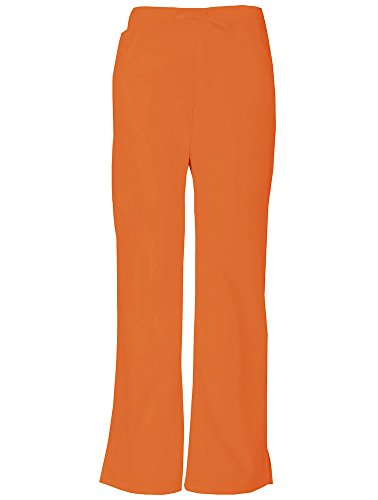 Everyday Scrubs Signature by Dickies Women's Mid Rise Drawstring Cargo Pant Medium Tall Pumpkin]()