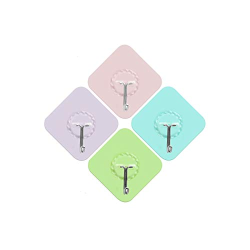 Hook Up, Hook Strong Adhesive Wall Wall Load-Bearing Hook, No Need to Punch The Hook, Can Be Rotated 180 Degrees (Color : Fruity Candy Color)