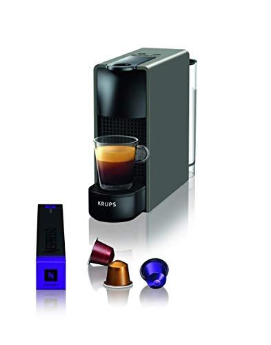 Krups Nespresso XN110B Essenza Mini Kaffeekapselmaschine (1260 Watt, Thermoblock-Heizsystem, 0,7 Liter, 19 bar) grau