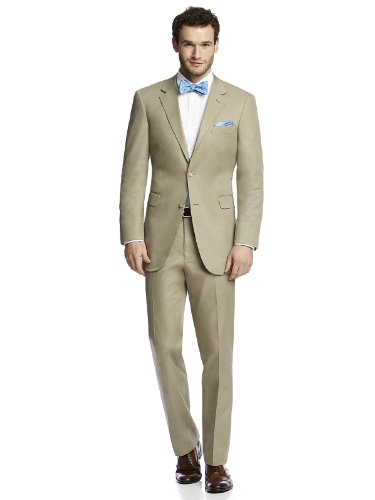 Men's Classic Khaki Cotton Summer Suit Jacket by After Six from Dessy - KHAKI - Size 42L by After Six