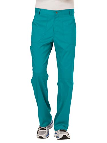 Cherokee WW Revolution WW140 Men's Fly Front Drawstring Pant Teal Blue S ()