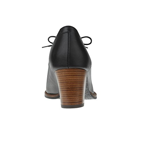 elegant Lederfußbett mit Schwarz aus Pumps Tessamino Echtleder Damen Weite G SOvBqB