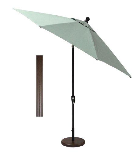 9 ft. Auto Tilt Umbrella in Sunbrella Canvas Spa (Multiple Finishes Available) For Sale