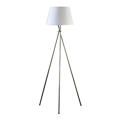 Catalina 19014-001 59-inch 3-Way Tripod Floor Lamp, Brushed Steel (Floor Lamps For The Office)