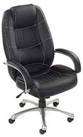 Saddle Stitched High Back Office Chair