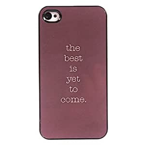 QHY The Best is Yet to Come Design Aluminum Hard Case for iPhone 5/5S
