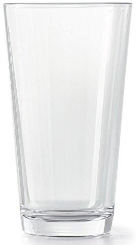 Circleware 44128 Huge 10-Piece Set of Heavy Base Highball Tumbler Drinking Glasses Beverage Ice Tea Cups, Kitchen Entertainment Glassware for Water, Juice, Milk, Beer, Farmhouse Decor, 15.7 oz, Spirit