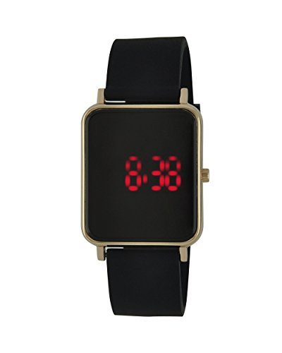 Moulin Unisex Digital One-Touch Silicone Black Watch #03388.72736