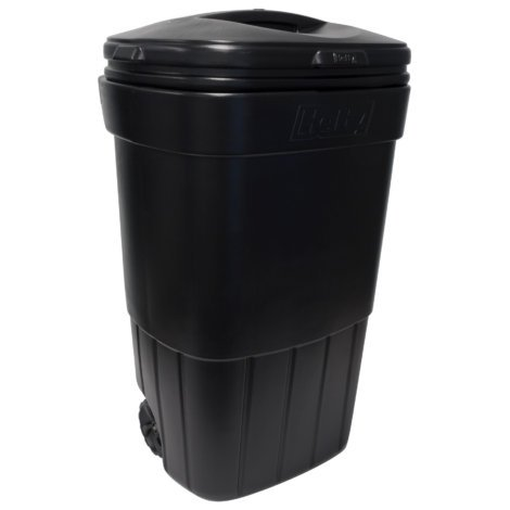 45 gallon rolling trash can - 1