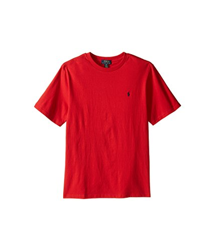 Polo Ralph Lauren Boys Crew Neck Pony Logo T-shirt (L(14-16), RL 2000 Red)