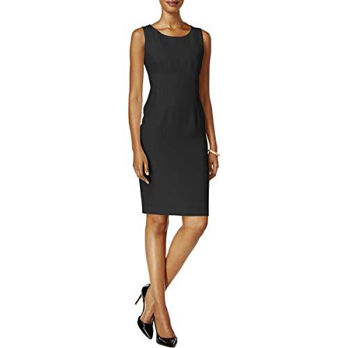 Kasper Women's Petite Size Stretch Crepe Sheath Dress, Black, 4