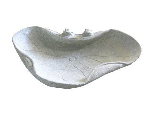 Vogeltränke mit 2 Fröschen Größe 45 cm