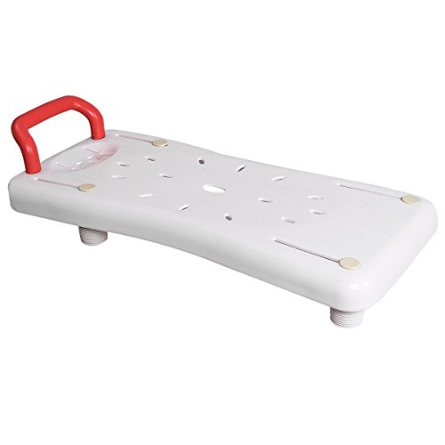GJH One Portable Bathtubs Shower Bench Seat Adjustable Width Plastic Bathtub Board Bathroom White 27.8