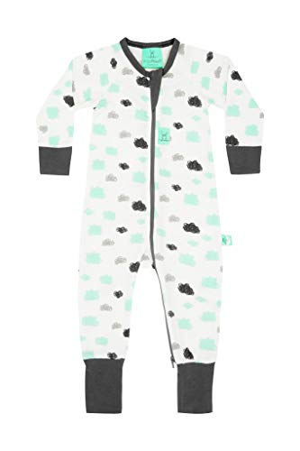 (ergoPouch 0.2 Tog Footed Sleeper Romper (3 Years, Clouds)…)