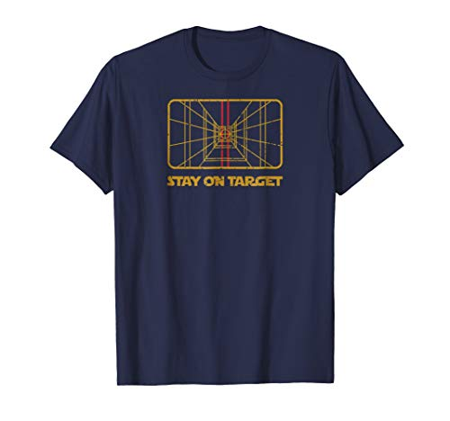 Target Vintage T-shirt - Vintage Retro Sci-Fi Stay on Target Distressed T-Shirt