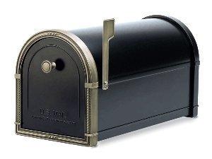 Architectural Mailboxes Coronado Mailbox Black withn Antique Bronze by ARCHITECTURAL MAILBOXES