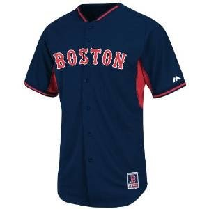 Boston Red Sox Mlb Tackle - Boston Red Sox Majestic Navy BP Cool Base Authentic Performance Jersey (Adult 48)